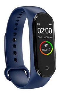 Relógio Pulseira Inteligente M4 Monitoramento Cardíaco Etc