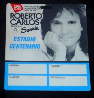Credencial De Prensa Roberto Carlos Uruguay