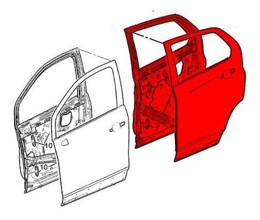 Porta Dianteira Lado Esquerdo Cruze 1.4 39048550 Original Gm