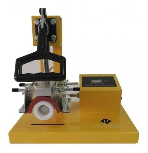 Prensa sublimadora Pelegrin XY-001 amarela e preta 110V