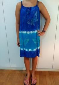 Saída Praia Feminina Indiana Vestido Azul Tam Único Roupa