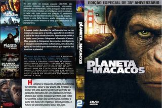 Dvd Box So Filmes - Coleção Planeta Dos Macacos - 9 Dvds
