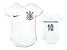 Body Infantil Personalizado Camisa Do Corinthians Com Nome!