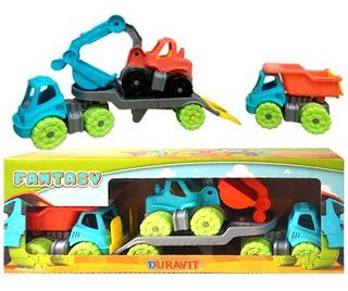 Camion Constructor Vial Duravit Set X4 Piezas Planeta Juguet