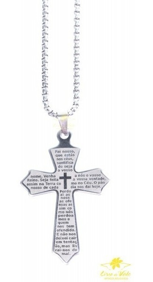 Colar Crucifixo Viii - Inox - Preço Atacado