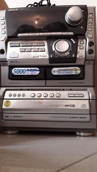 Mini System Aiwa Nsxt9 Só O Aparelho
