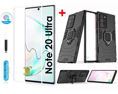 Case Funda + Mica Uv  Samsung Galaxy Note 20 Ultra