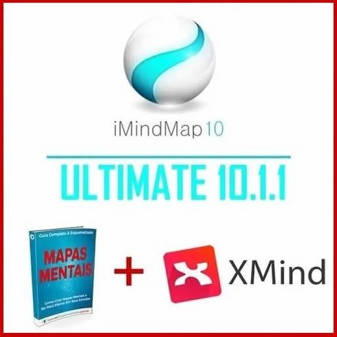 Imindmap 10 Ultimate (versão 10.1.1) + Xmind Pro 8 + Bônus