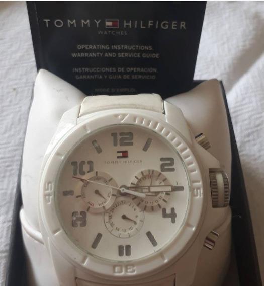 Relógio De Pulso Tommy Hilfiger Com Pulseira De Couro