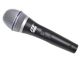 Microfone Dinâmico Voz Chave On/off + Cabo E Maleta Jts Tx8