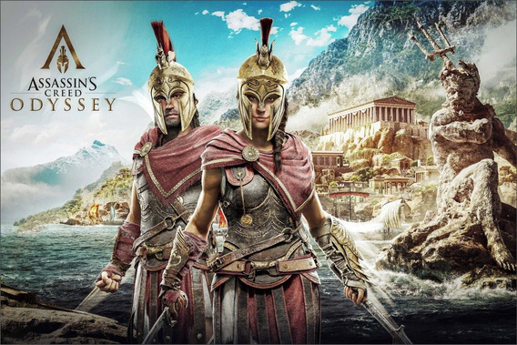 Assassins Creed Odyssey + 2 Jogos Extras Pc-dvd