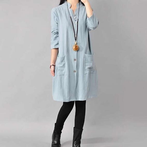 Tokio Vestido Moda Japon Asia Oriental Casual Botones Ysd43