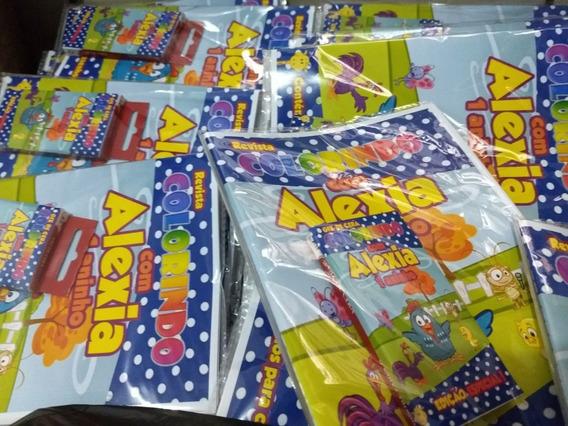 30 Kits Revistas Colorir Com Giz De Cera + 30 Sacolas Todos Os Temas