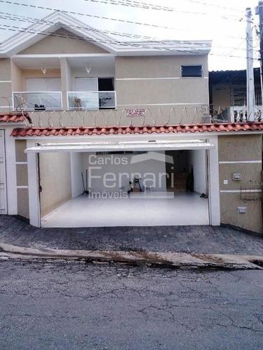 Imagem 1 de 15 de Sobrado Na Região De Vila Nova Mazzei Com 3 Dormitórios Sendo 1 Suíte, Quintal E 4 Vagas - Cf24951