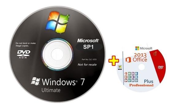 Cd Windows 7 Ultimate 32/64bits Ativado + Office Pro
