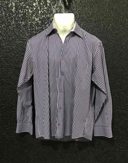 Camisa Casual Marca C U A D R A Original T/ L Poco Uso.