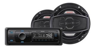 Combo Autoradio Bluetooth + Parlantes 16.5cm Aiwa Caw-8016bt