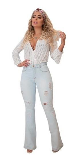 Calça Jeans Super Flare Levanta Bumbum Lançamento