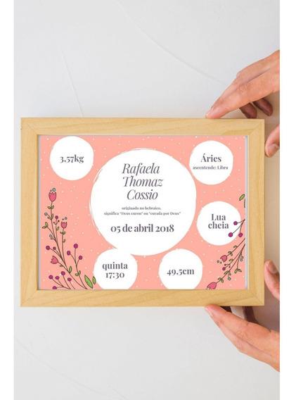 Presente Quadro Quarto Infantil Bebe Menino / Menina