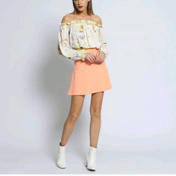 Saia Feminina Lança Perfume Cintura Alta Instagram/blogueira