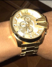 Reloj Diesel Dorado Original + Reloj Inteligente Gratis