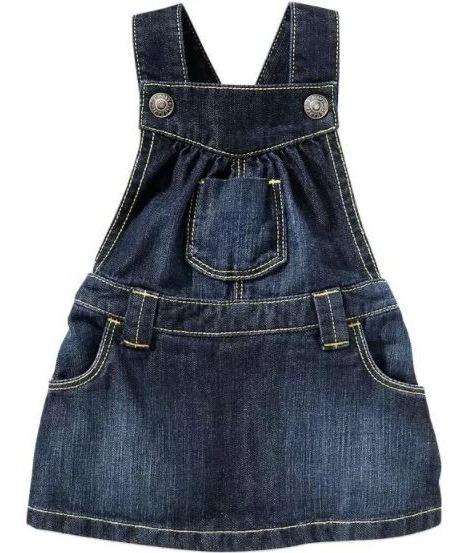 Vestido Jeans Menina 6 Meses