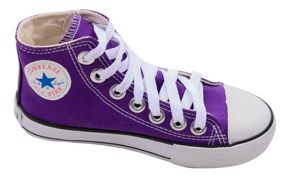 Tênis Converse All Star Cano Alto Violeta Infantil