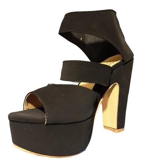 Zapatilla Zapatos Dama Mujer Regismena Negro Zapato