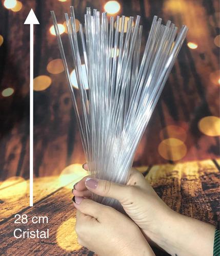 Imagem 1 de 5 de 1000 Palito Para Pirulito Topper De Bolo Cristal  28 Cm  Bwb