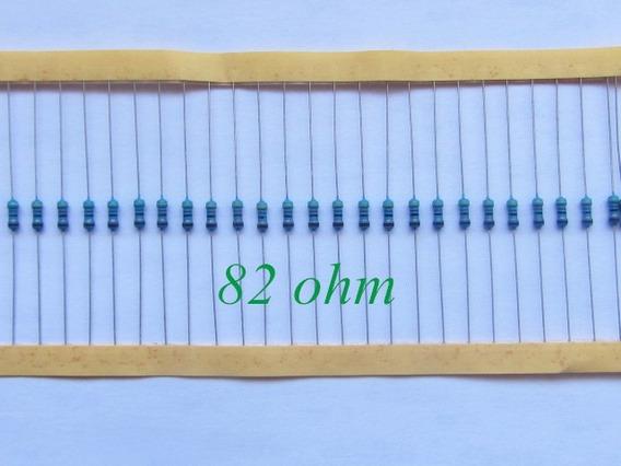 Kit 10 X Resistor 82 Ohm 1/4w 1% Projetos Arduino Pic