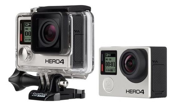Camera Gopro Hero 4 Black Editon + Acessórios/ Sem Cartão Sd