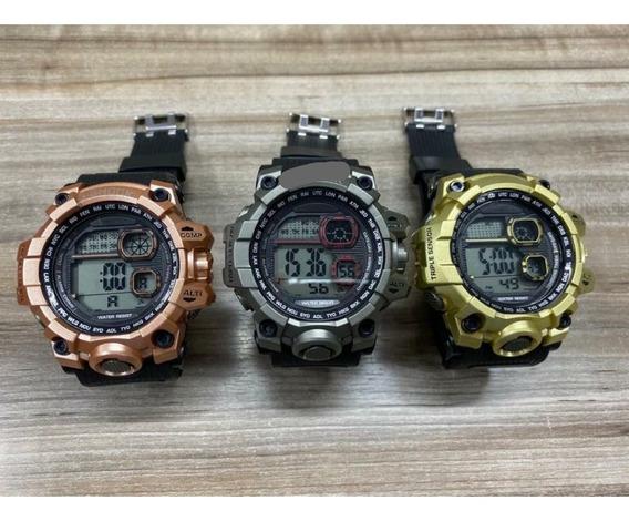 Relógio Masculino Digital Kit Com 10 Unidades