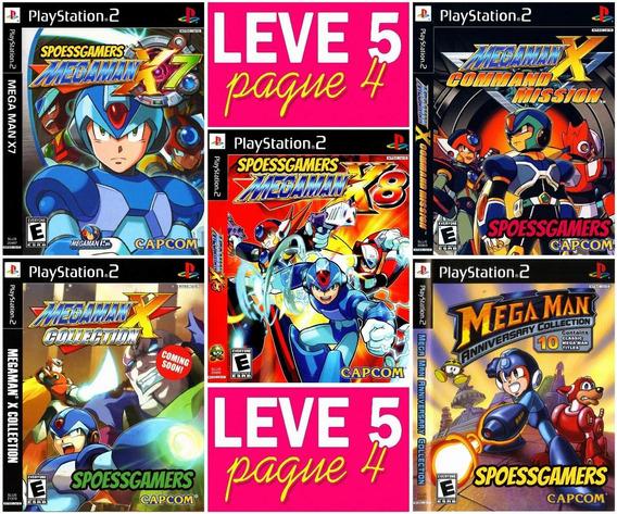 Megaman X Ps2 Coleção (5 Dvds) Patch Leve 5 Pague 4 Me