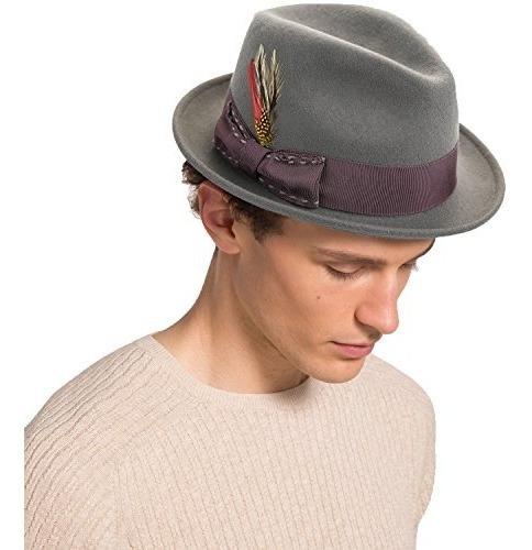 Sombrero De Fieltro De Lana Fedora De Janetshats Sombrero...