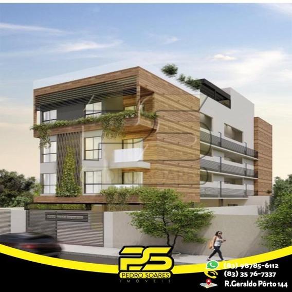 Flat Com 3 Dormitórios À Venda, 60 M² Por R$ 265.524 - Jardim Oceania - João Pessoa/pb - Fl0070