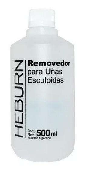 Removedor Esmaltes Semipermanentes Y Uñas Esculpidas Heburn Manicuria 500ml