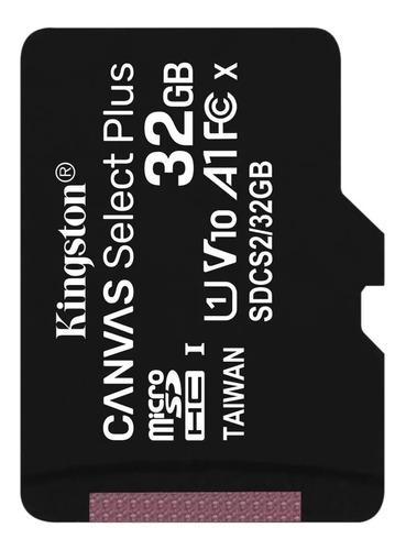 Micro Sd Kingston Canvas Select 32gb Clase 10 100 Mb Read Hd