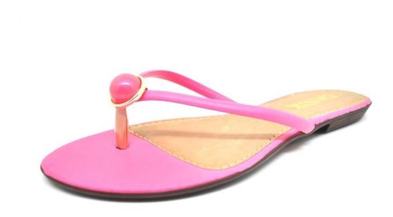 Rasteirinhas Femininas Chinelo Pink Neon Pedra Dani K