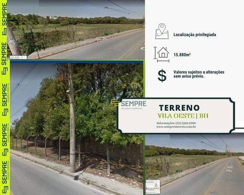 Imagem 1 de 7 de Terreno À Venda, 15.880 M² - Vila Oeste - Belo Horizonte/mg - Te0037