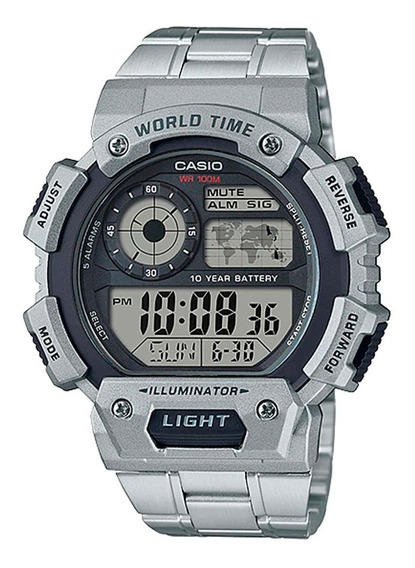 Relógio Casio Masculino Ae-1400whd-1avdf Sport World Map