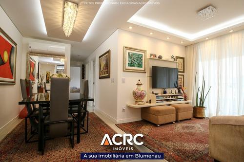 Imagem 1 de 21 de Acrc Imóveis - Apartamento Mobiliado Com Aquecimento A Gás E Piscina Para Venda No Bairro Itoupava Seca - Ap04502 - 69537552