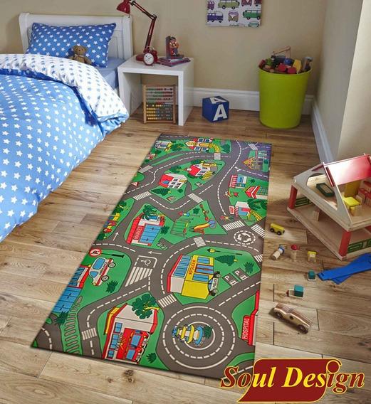 Carpeta Vinilica Calles Pista 140 X 200 Cm Espesor 2 Mm Infantil Soul