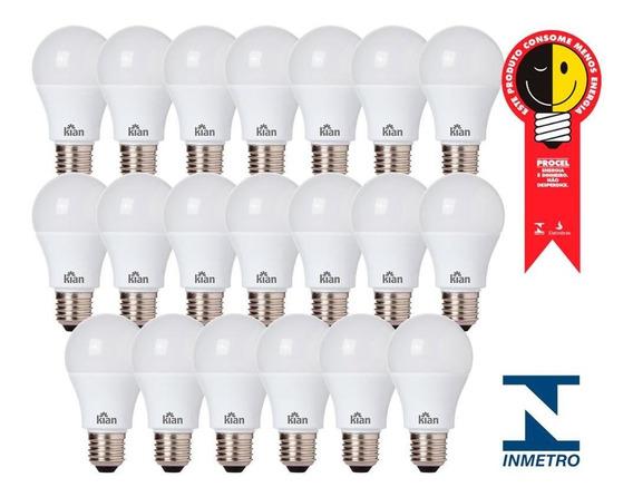 Kit 20 Lâmpada Bulbo Led 12w Branco Frio 6500k Bivolt Kian