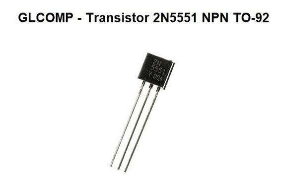 Transistor 2n5551 Npn To-92 Kit C/ 100 Peças - Carta Reg.