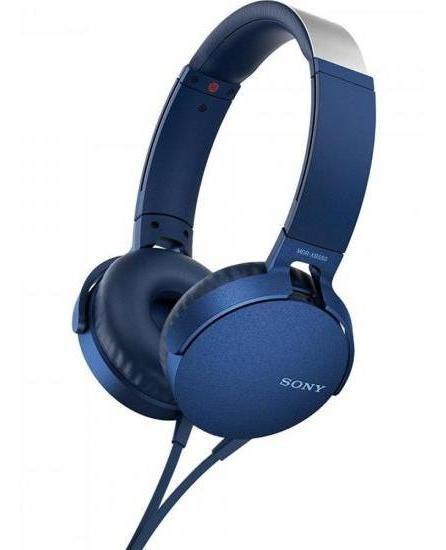Fone De Ouvido Para Celular Sony Mdr-xb550ap/l Azul Extra Bass, Microfone Integrado, Acolchoado, Toque Suave, Arrojado