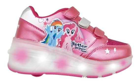 Zapatillas Ruedas Y Luz Led Usb Mi Little Pony Fty Calzados