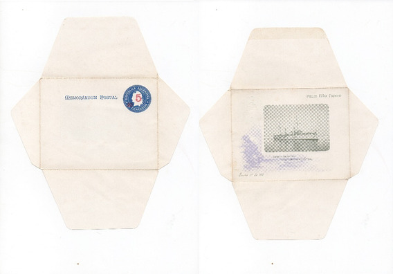 Memorandum Postal Feliz Año Nuevo 5 Centavos Caza Patria