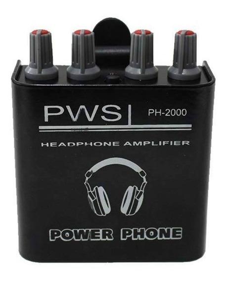 Amplificador Para Fone De Ouvido Ph2000 Pws Power Play