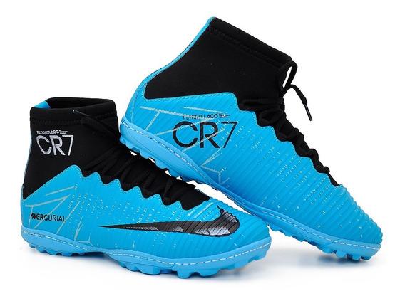 Chuteira Nike Society Grama Cano Alto Kit Com 2 Pares 10%off