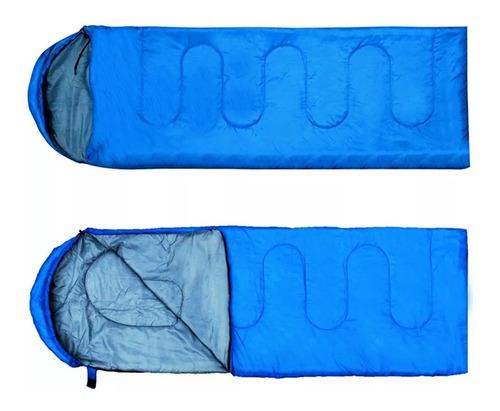 Imagen 1 de 6 de Bolsa De Dormir Termica 0 C° Capucha Camping Colegio Niños